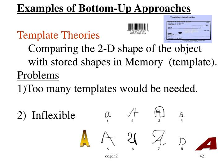 Examples of Bottom-Up Approaches