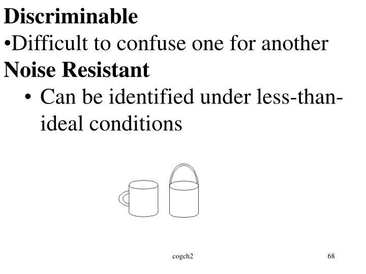Discriminable