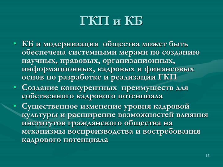 ГКП и КБ