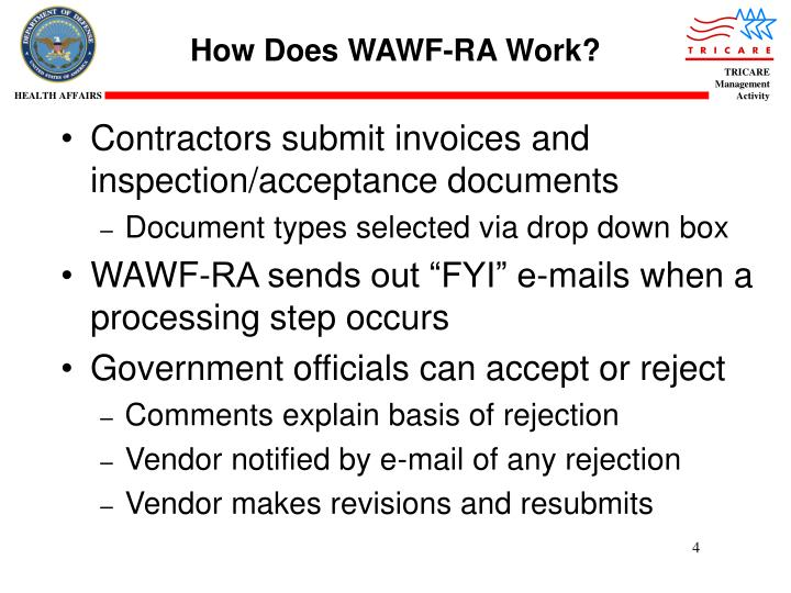 How Does WAWF-RA Work?