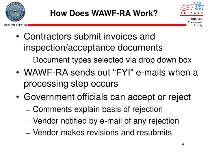 How Does WAWF-RA Work?