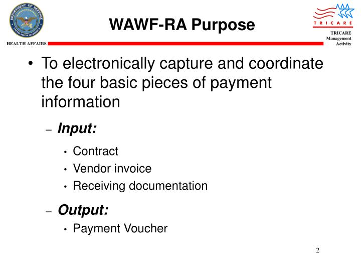 WAWF-RA Purpose