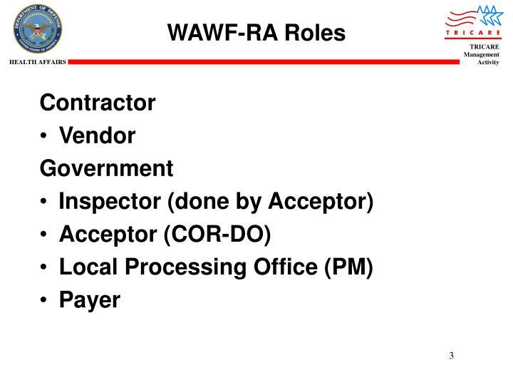 WAWF-RA Roles