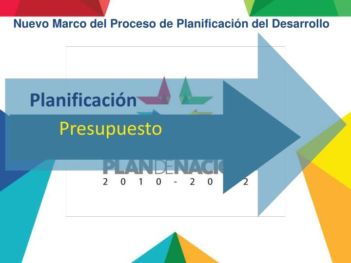 Nuevo Marco del Proceso de Planificación del Desarrollo