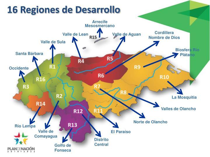 16 Regiones de Desarrollo