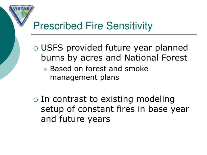 Prescribed Fire Sensitivity