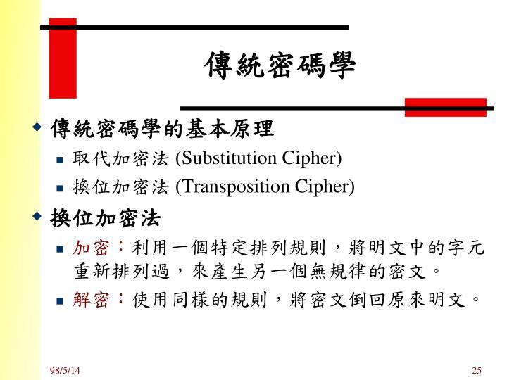 傳統密碼學