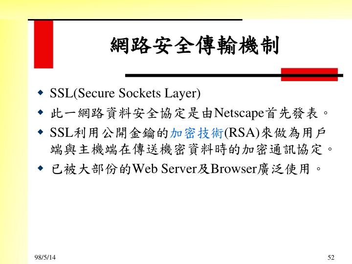 SSL(Secure Sockets Layer)