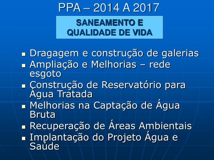 PPA – 2014 A 2017