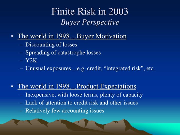 The world in 1998…Buyer Motivation