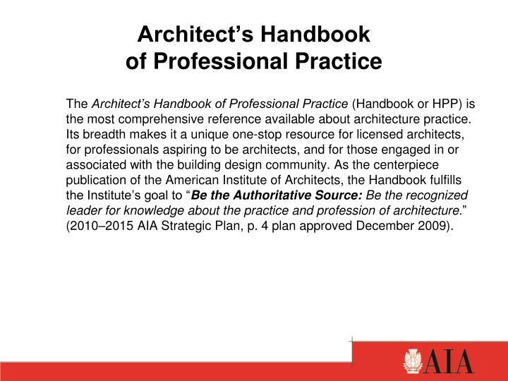 Architect's Handbook
