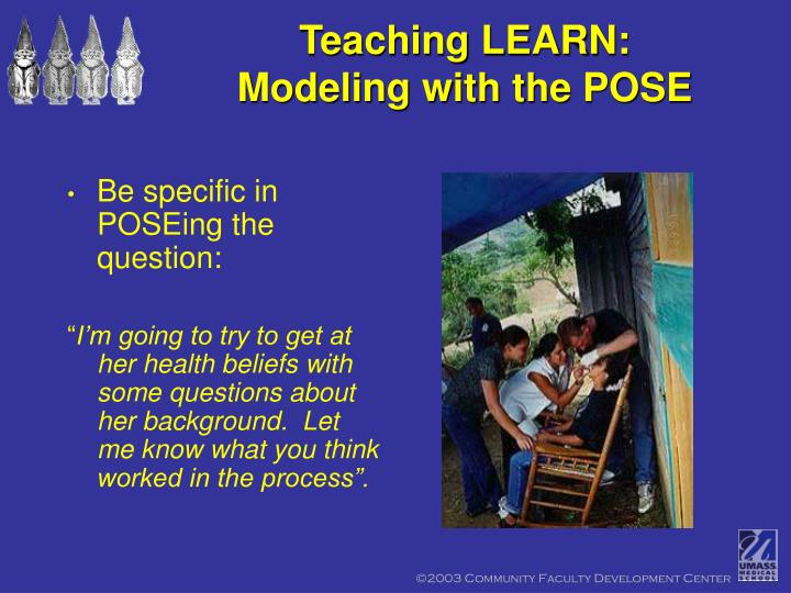 Teaching LEARN: