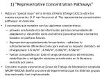 1 representative concentration pathways