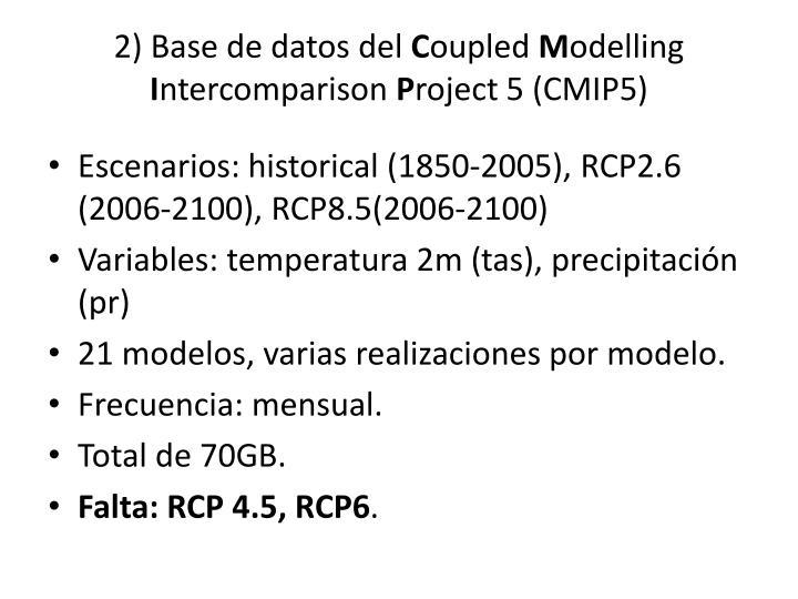 2) Base de datos del