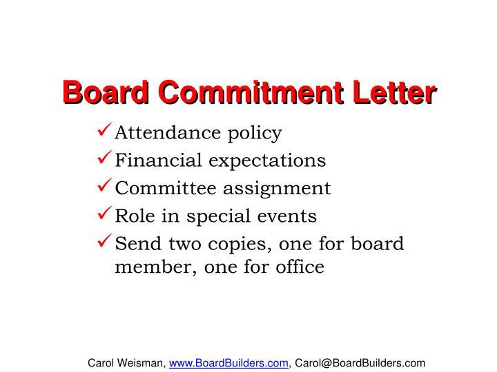 Board Commitment Letter