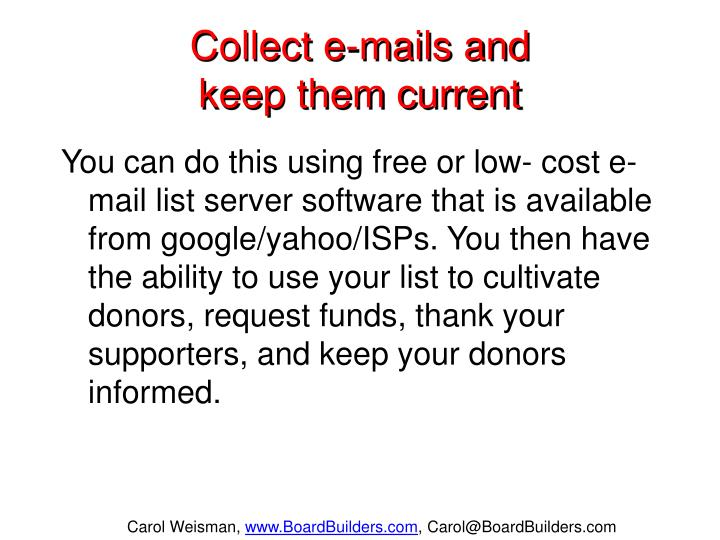 Collect e-mails and