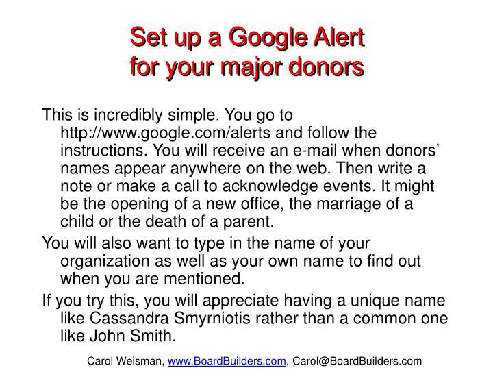 Set up a Google Alert