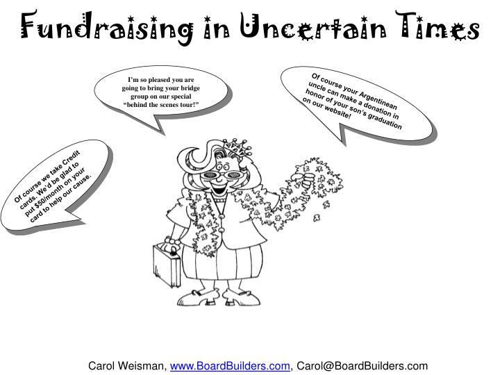 Fundraising in Uncertain Times