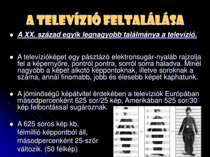 A televízió feltalálása