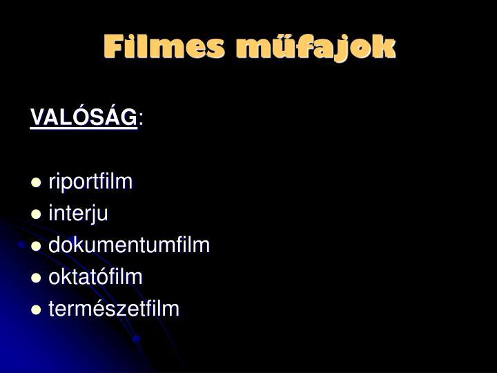Filmes műfajok