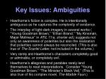 key issues ambiguities