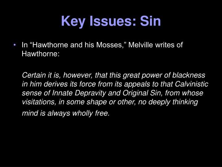 Key Issues: Sin