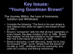 key issues young goodman brown2