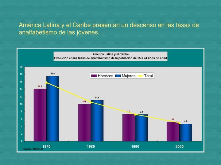 América Latina y el Caribe presentan un descenso en las tasas de analfabetismo de las jóvenes…