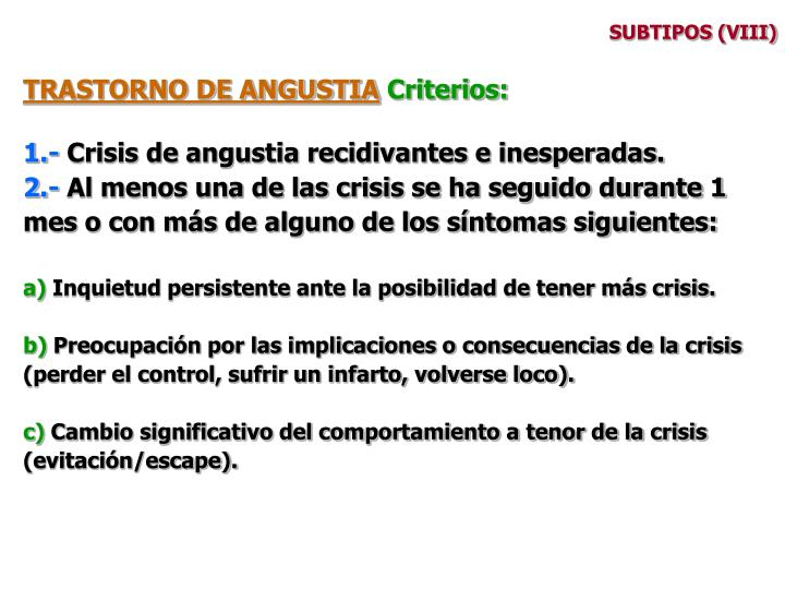 SUBTIPOS (VIII)