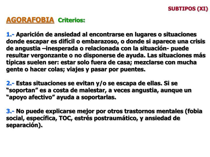 SUBTIPOS (XI)