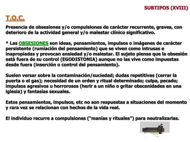 SUBTIPOS (XVIII)