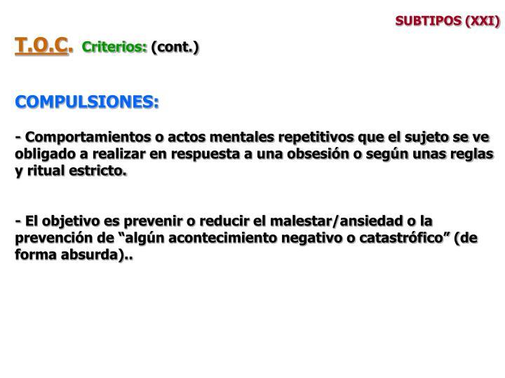 SUBTIPOS (XXI)