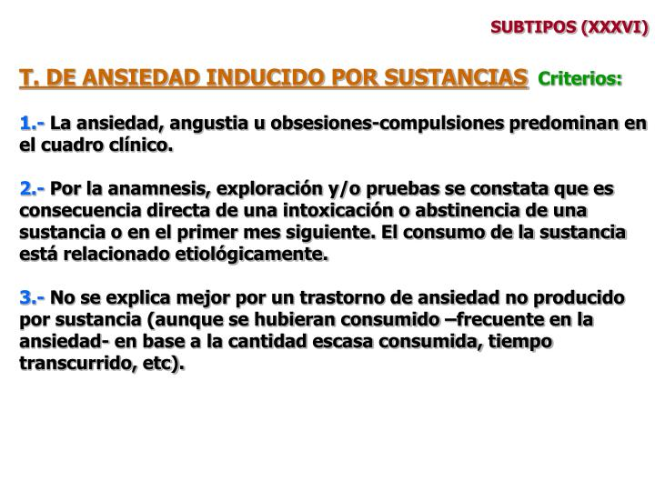 SUBTIPOS (XXXVI)