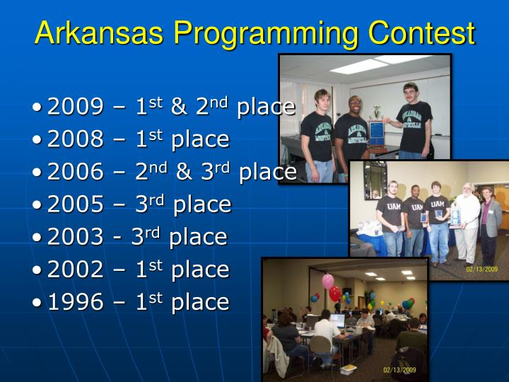 Arkansas Programming Contest