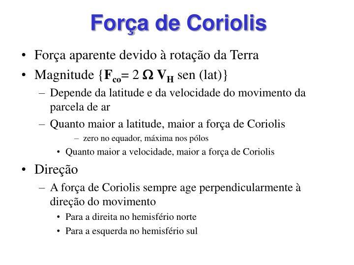 Força de Coriolis