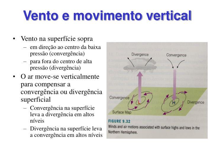 Vento e movimento vertical