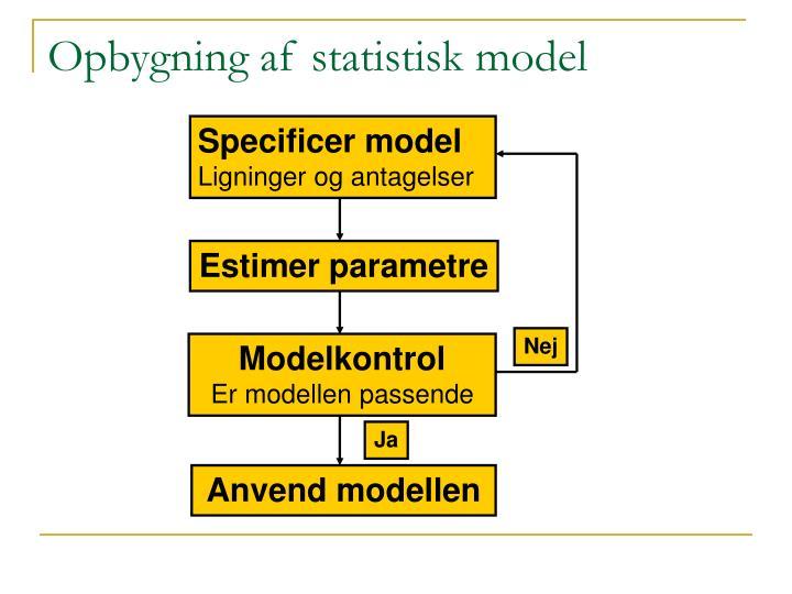 Opbygning af statistisk model