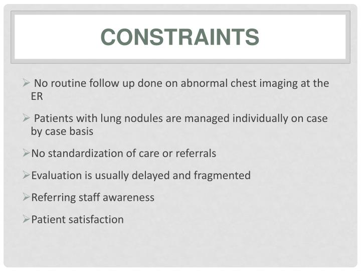 No routine follow up done on abnormal chest imaging at the ER