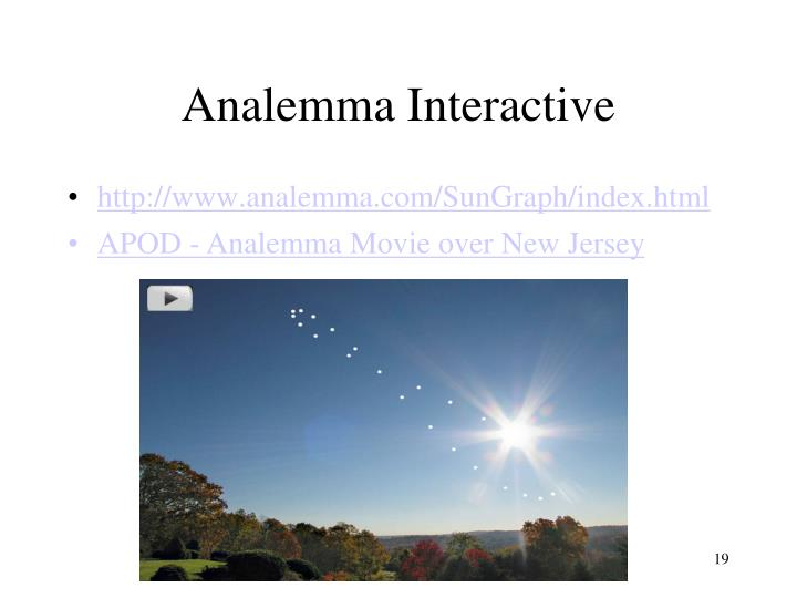 Analemma Interactive