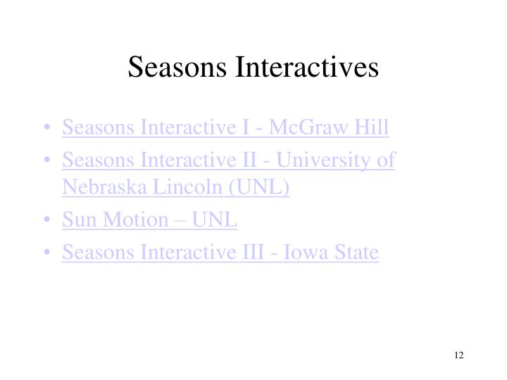 Seasons Interactives