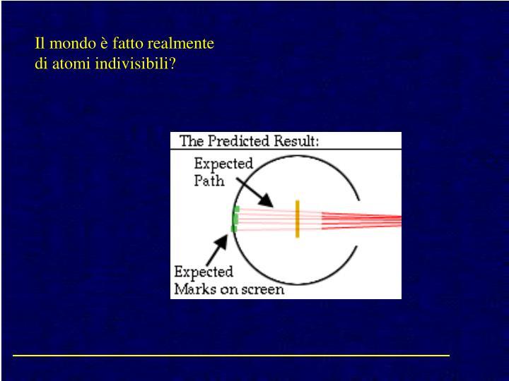 Il mondo è fatto realmente di atomi indivisibili?