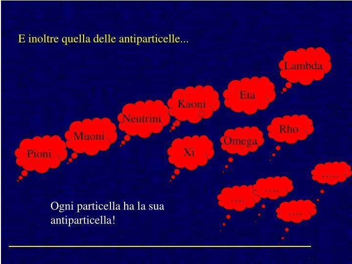 E inoltre quella delle antiparticelle...