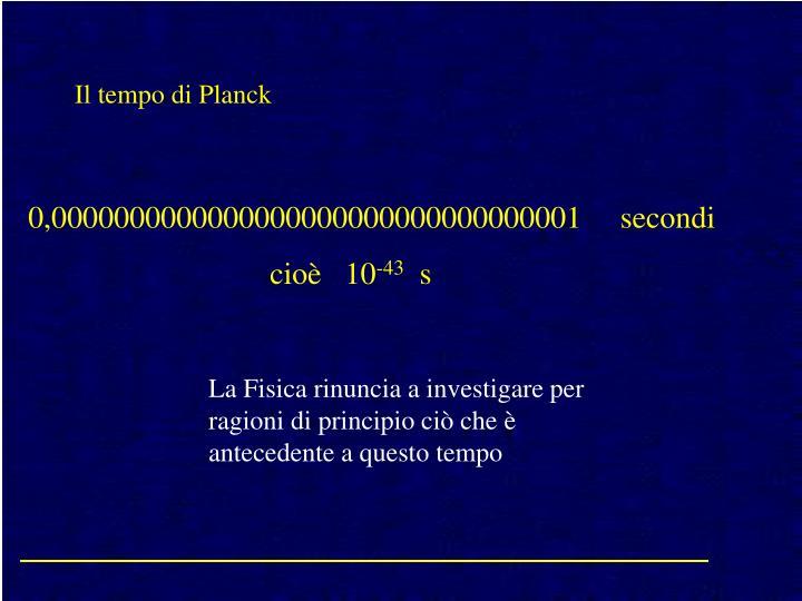 Il tempo di Planck