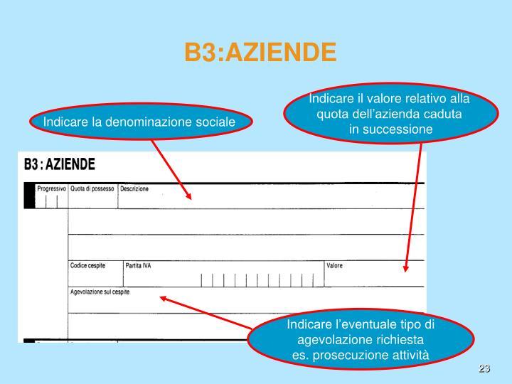 B3:AZIENDE