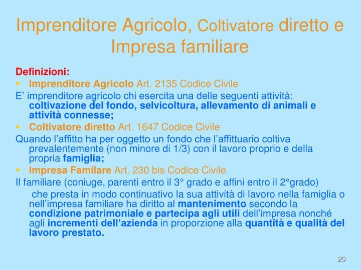 Imprenditore Agricolo,