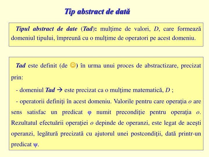 Tip abstract de dată