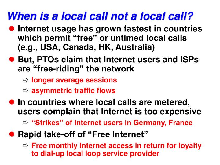 When is a local call not a local call?
