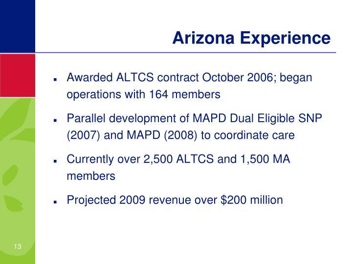Arizona Experience