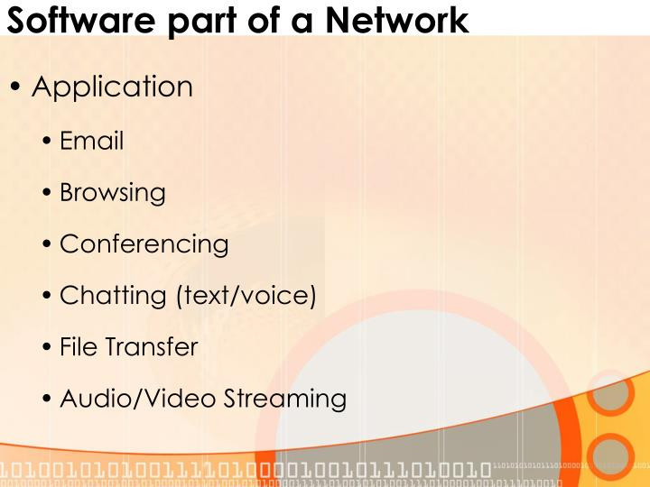 Software part of a Network