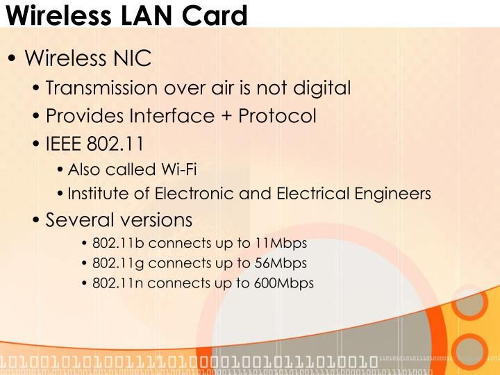 Wireless LAN Card